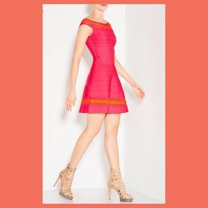 Authentic Herve leger Zoe pink dress
